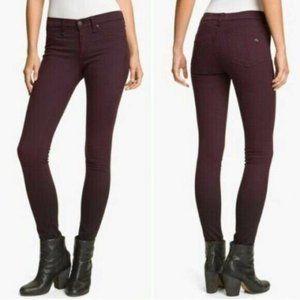 Rag & Bone 29 Wine Ombre Legging Jeans